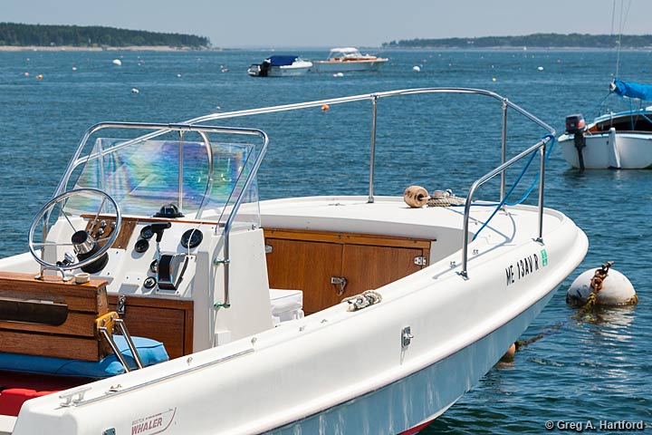 The 19 foot Boston Whaler Outrage Motorboat Rental