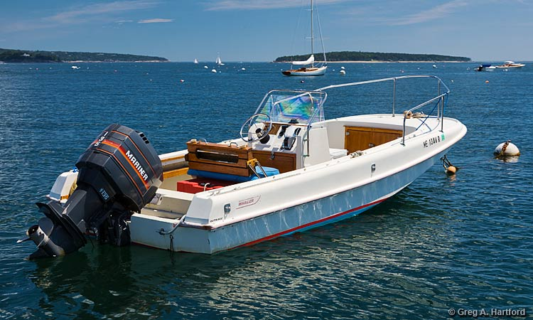 The 19 foot Boston Whaler Motorboat Rental at Mansell Boats Rental Company